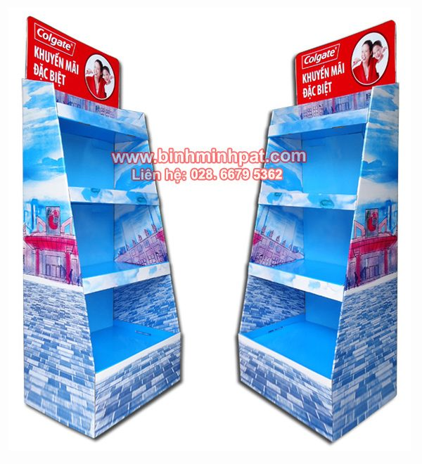Nhà sản xuất kệ giấy trưng bày sản phẩm - Bình Minh Pat