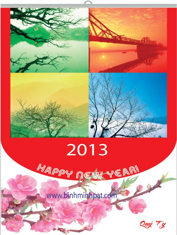 lịch đẹp cho tết 2013