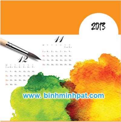 In lịch tết 2013 giá rẻ – Lịch 7 tờ chủ đề Hội Họa