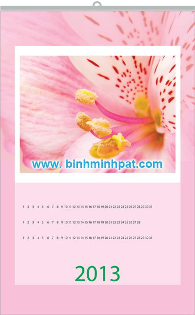 lịch nét hoa xuan