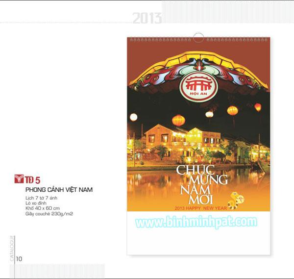 lich 7 tờ phong cảnh Việt Nam