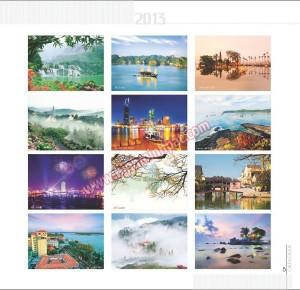 Bộ lịch 13 tờ - Phong cảnh Việt Nam
