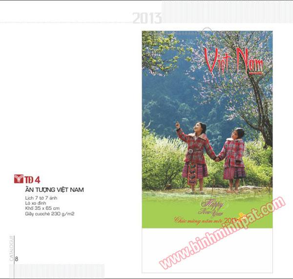 Bộ lịch 7 tờ – ấn tượng Việt Nam