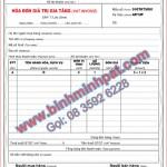 In hóa đơn tại Cửu Long Đồng Nai