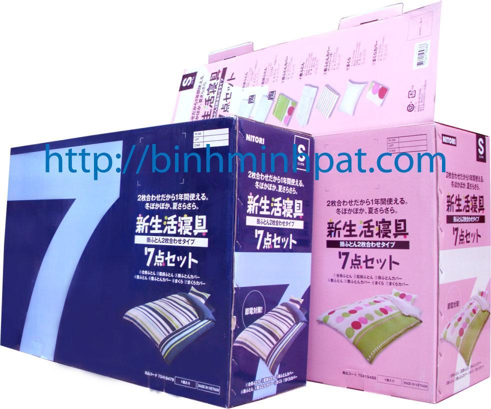 Thùng carton, thùng carton bồi in offset