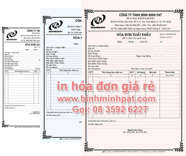 In hóa đơn GTGT, xuất khẩu tại quận 10