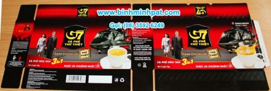 hộp giấy cà phê G7