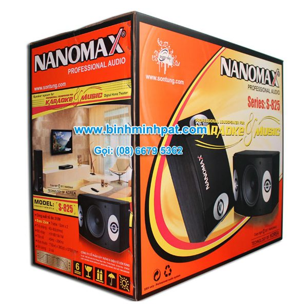Mẫu Thùng carton đựng loa NANOMAX
