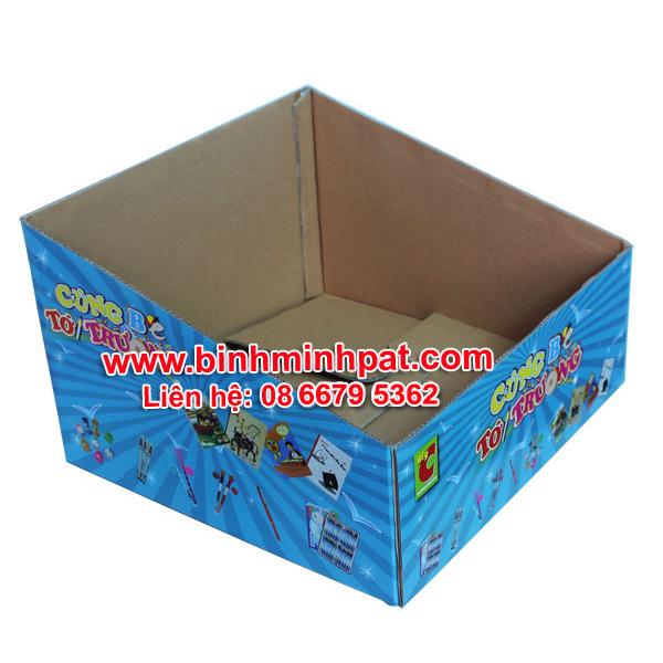 Khay giấy carton in offset trưng bày hàng hoá