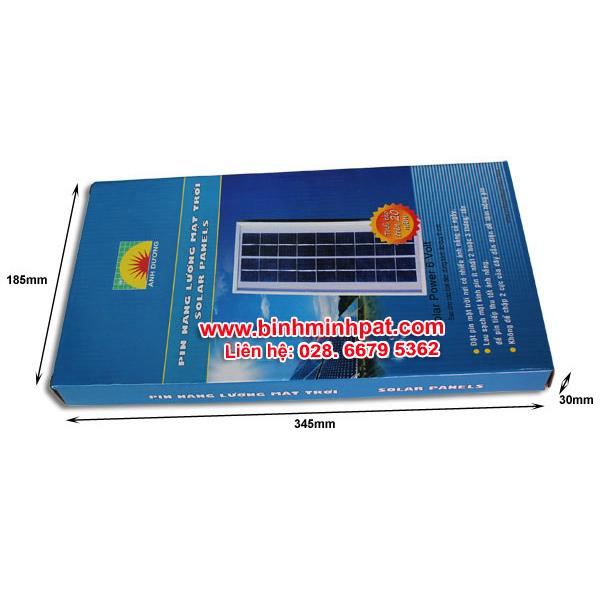 chi tiết hộp giấy pin năng lượng mặt trời