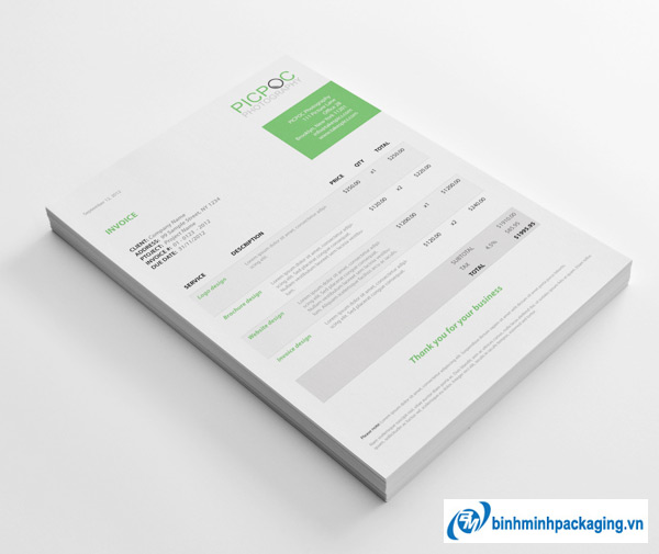 10 mẫu thiết kế hóa đơn đầy sáng tạo ( phần 1)