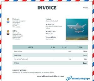 Air Mail Hóa Đơn Bởi Cute