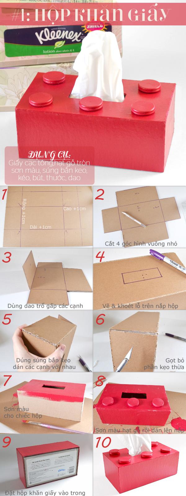 những món đồ hữu ích từ tấm bìa thùng carton