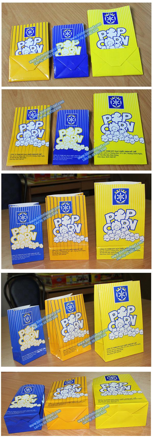 Hình ảnh sản phẩm túi giấy đựng bắp rang bơ