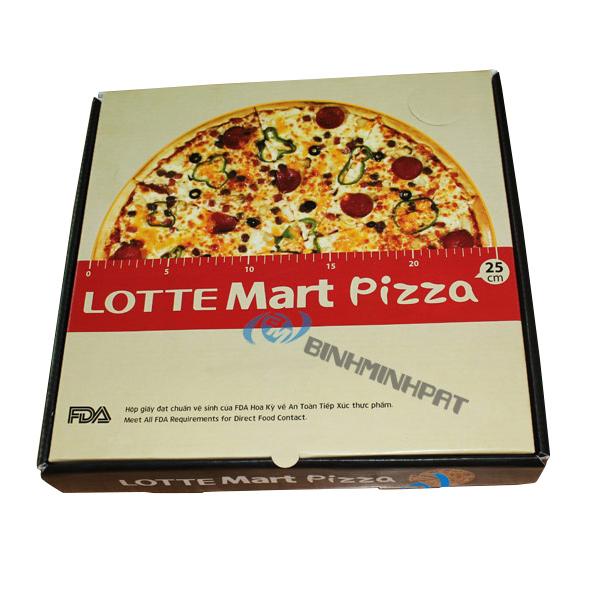 Hộp carton đựng bánh pizza - Lotte Mart