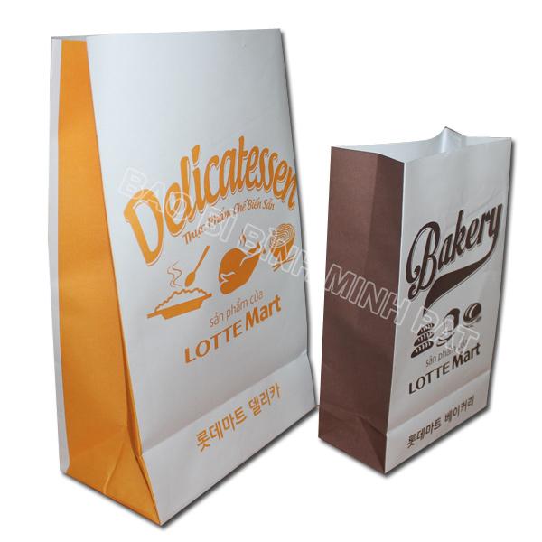 Túi giấy cho ngành thức ăn nhanh - Túi giấy lotte Mart