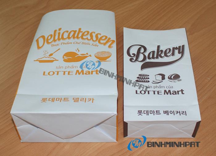 Túi giấy Lotte Mart ở một góc cạnh khác