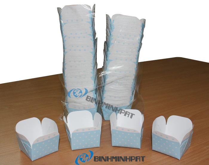Chén giấy đựng bánh in offset