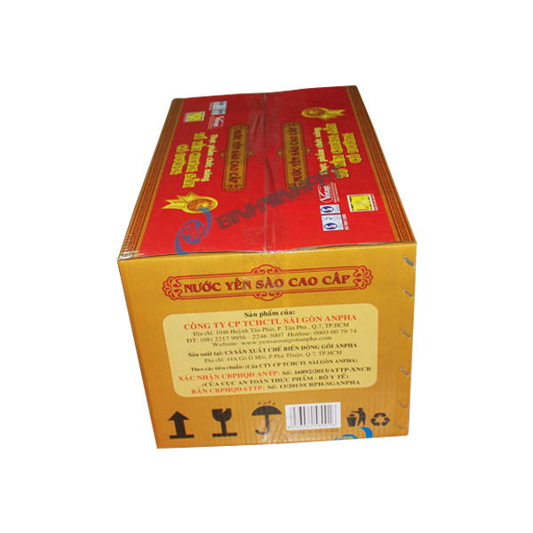 mẫu thùng carton in offset đựng yến sào