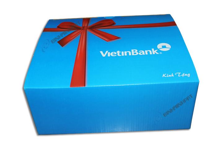 Hộp giấy carton đựng quà Tặng ViettinBank 01