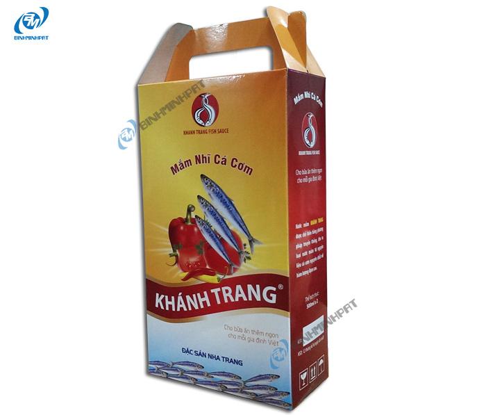 Hộp carton đựng nước mắm cá cơm Khánh Trang 4