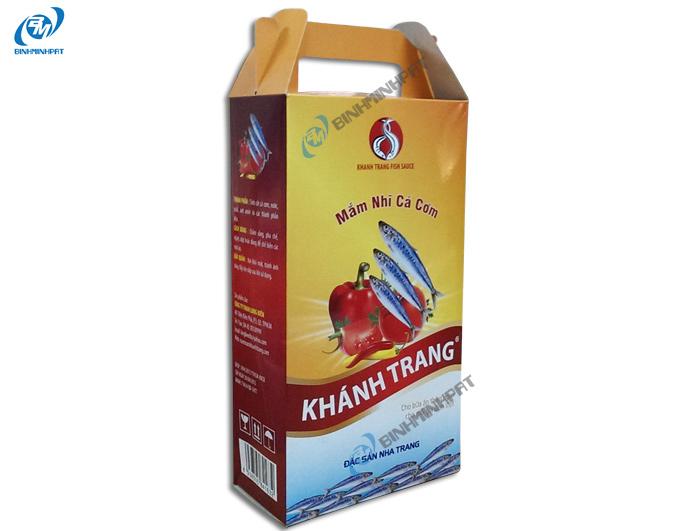 Hộp carton đựng nước mắm cá cơm Khánh Trang 2