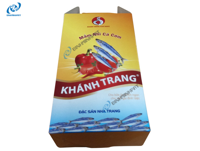 Hộp carton đựng nước mắm cá cơm Khánh Trang 1