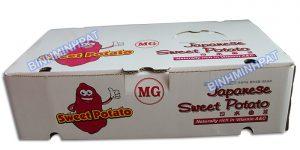 thùng carton đựng khoai lang xuất khẩu