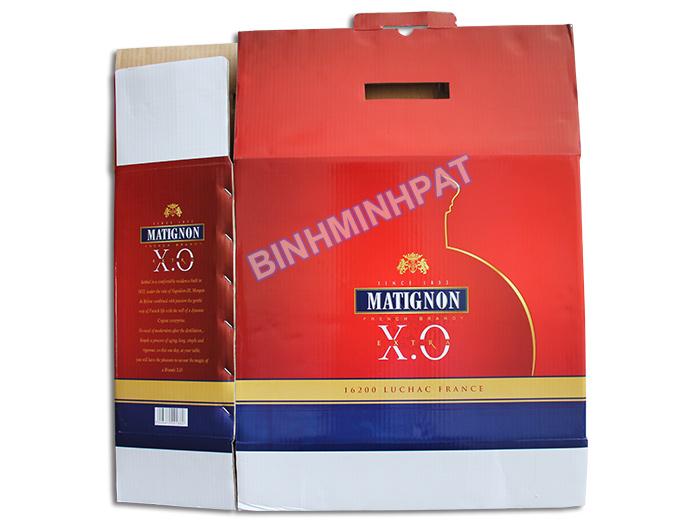 Thùng carton 5 lớp đựng Rượu XO -01
