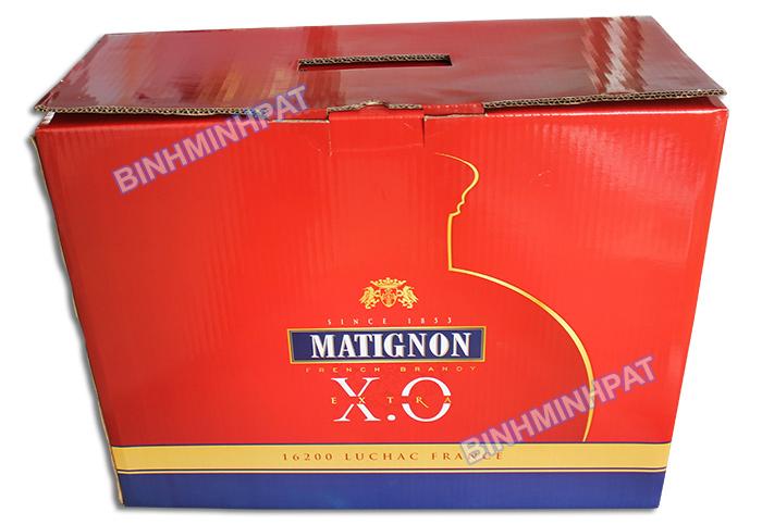 Thùng carton 5 lớp đựng Rượu XO -02