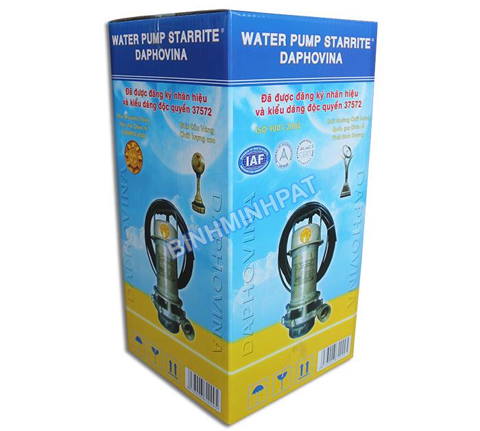 Sản xuất thùng carton in offset đựng máy Bơm nước - hinh 1