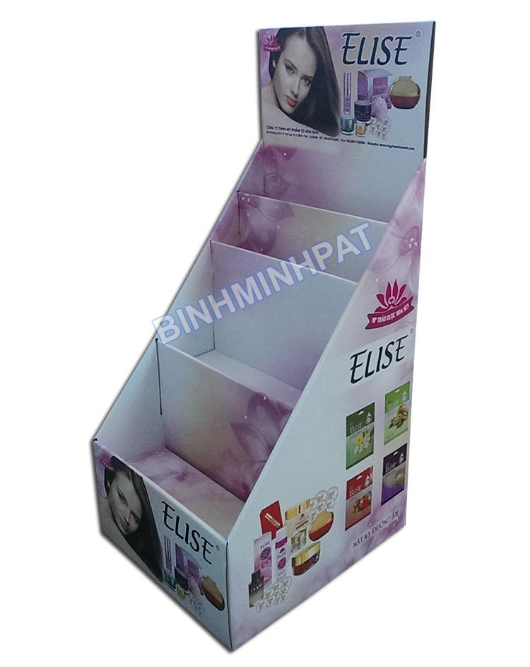 Bình Minh PAT nhà sản xuất Kệ giấy trưng bày mỹ phẩm cho thương hiệu ELISE