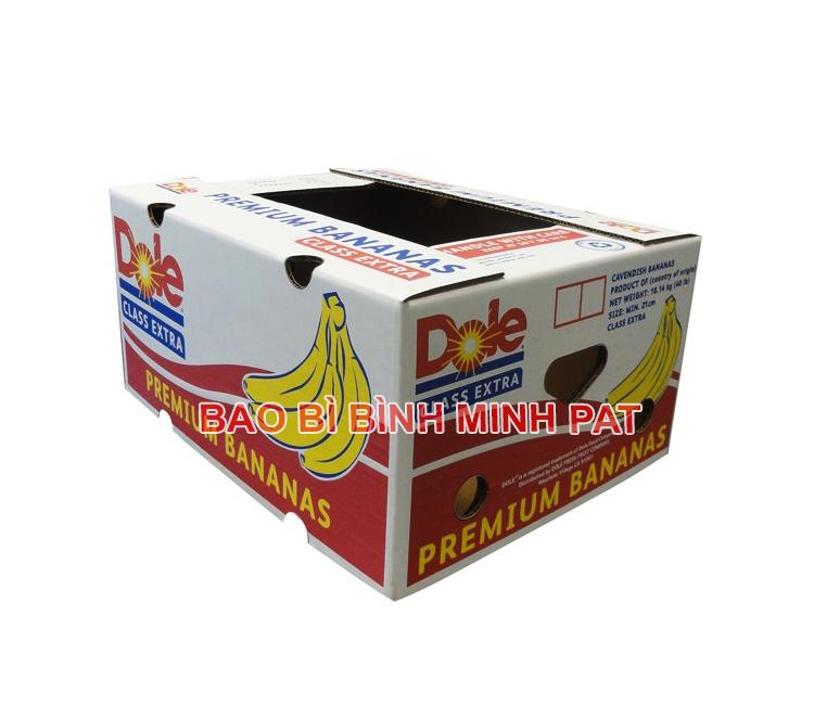 Mẫu thùng carton Dobe đựng chuối xuất khẩu