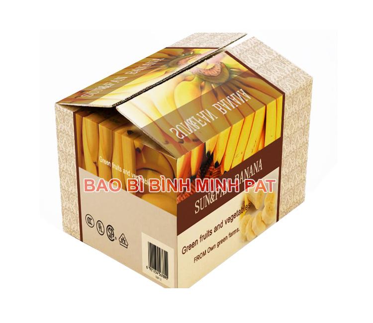 Thùng carton in offset- thùng chuối chất lượng cao
