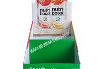 Kệ giấy trưng bày sữa Nutri boost triện dụng, bắt mắt