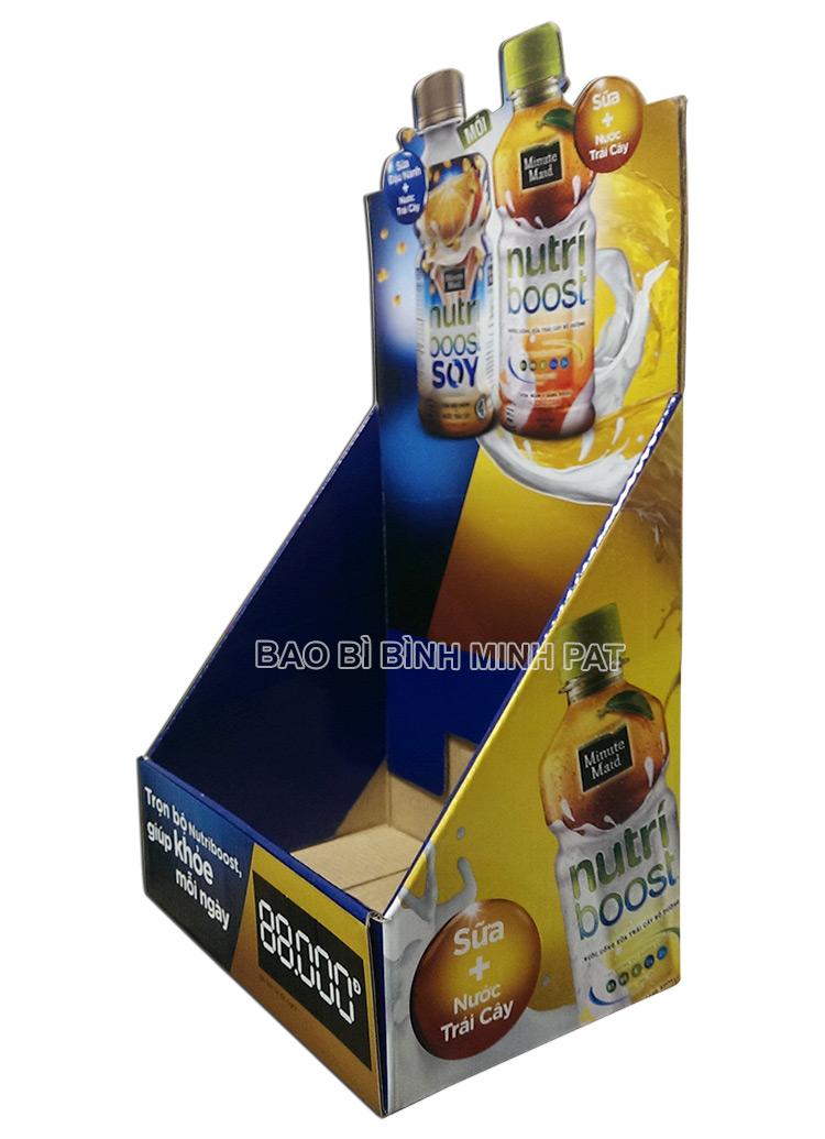Kệ giấy trưng bày sữa nước trái cây Nutri - hinh 01