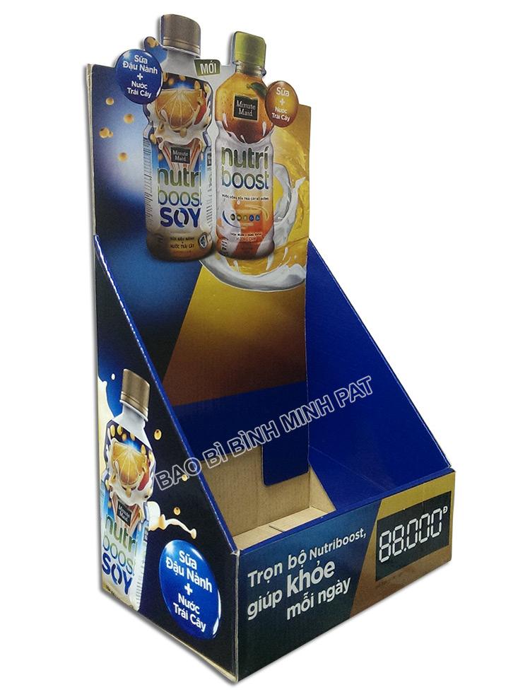 Kệ giấy trưng bày sữa nước trái cây Nutri - hinh 02