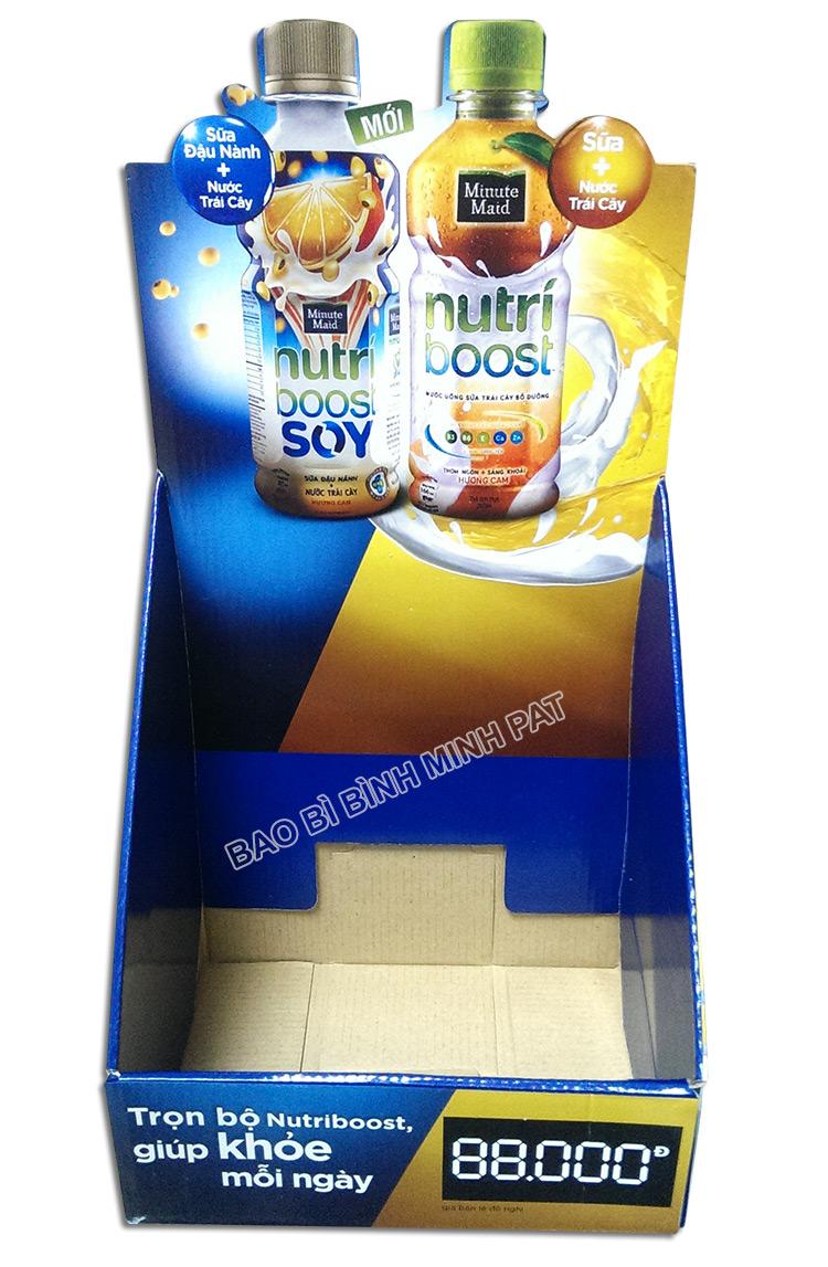 Kệ giấy trưng bày sữa nước trái cây Nutri - hinh 03