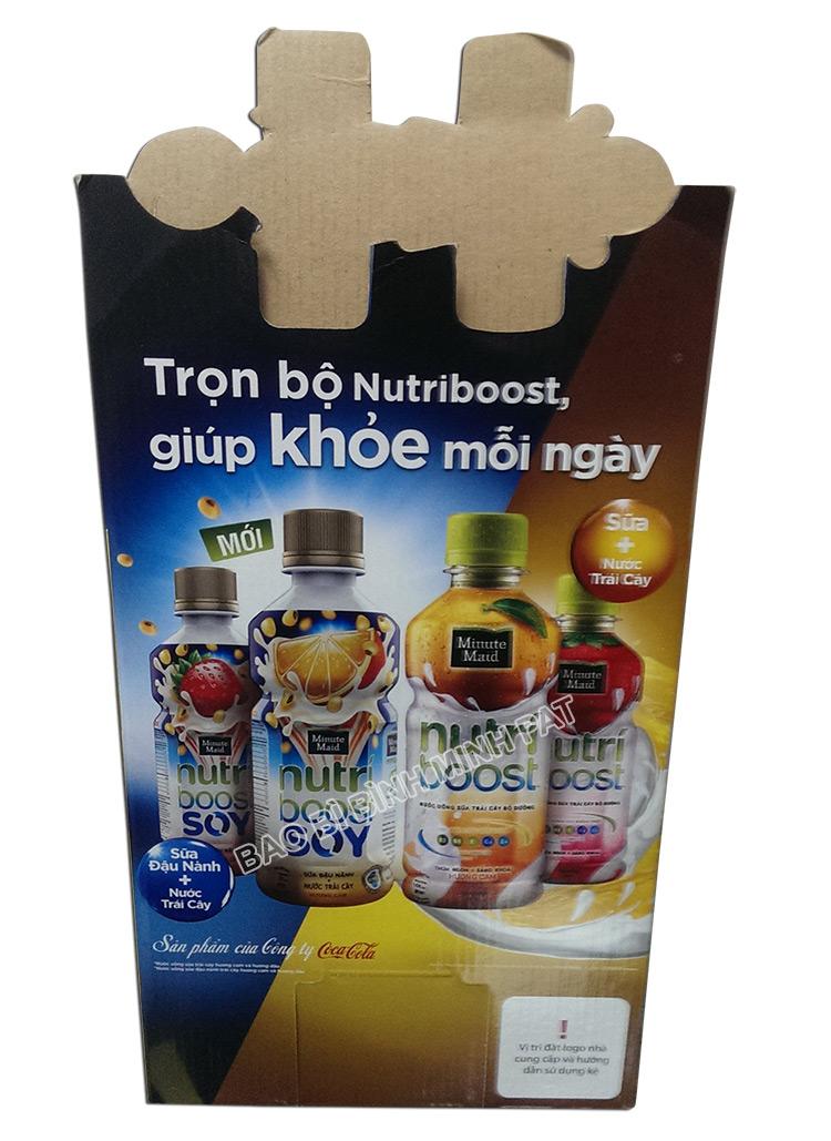 Kệ giấy trưng bày sữa nước trái cây Nutri - hinh 04